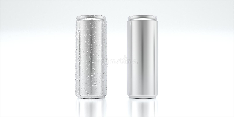 Консервная банка модель-макета алюминиевая стоковая фотография rf