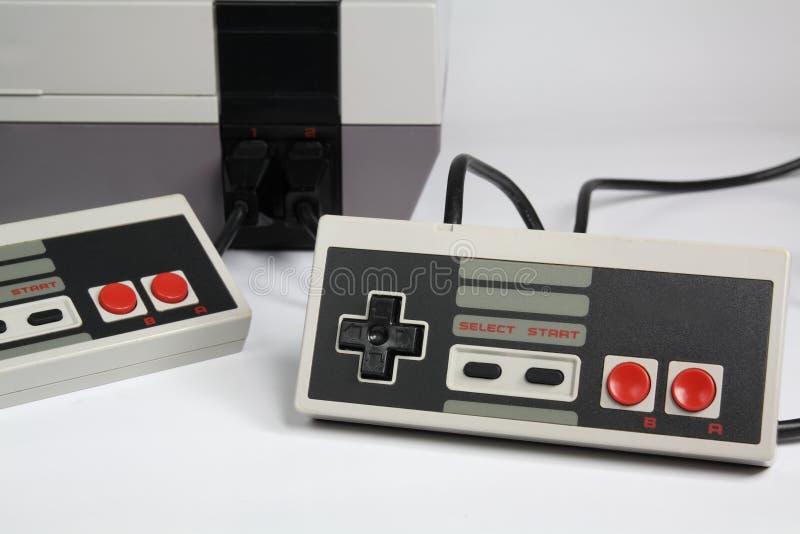 Консоль видеоигры стоковые изображения rf