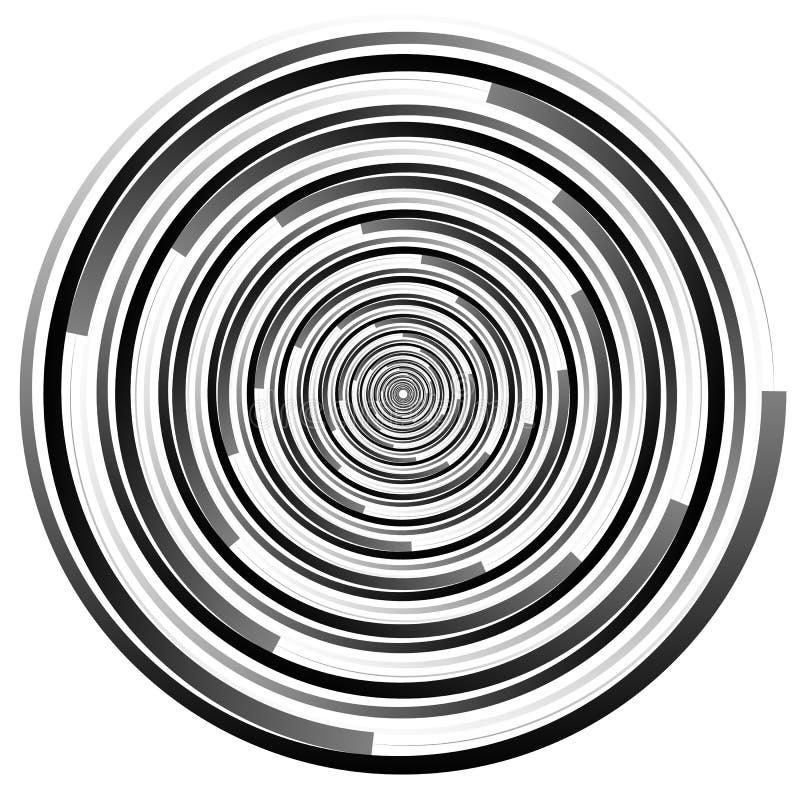 Конспекта элемент спирально Закручивающ, график вортекса концентрическо бесплатная иллюстрация
