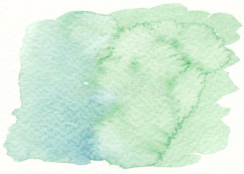 Конспект акварели зеленый текстурирует предпосылку стоковые фото