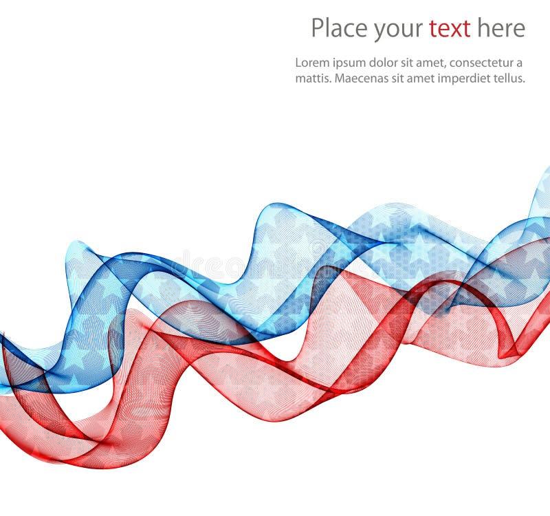 Конспект американского флага патриотический иллюстрация вектора