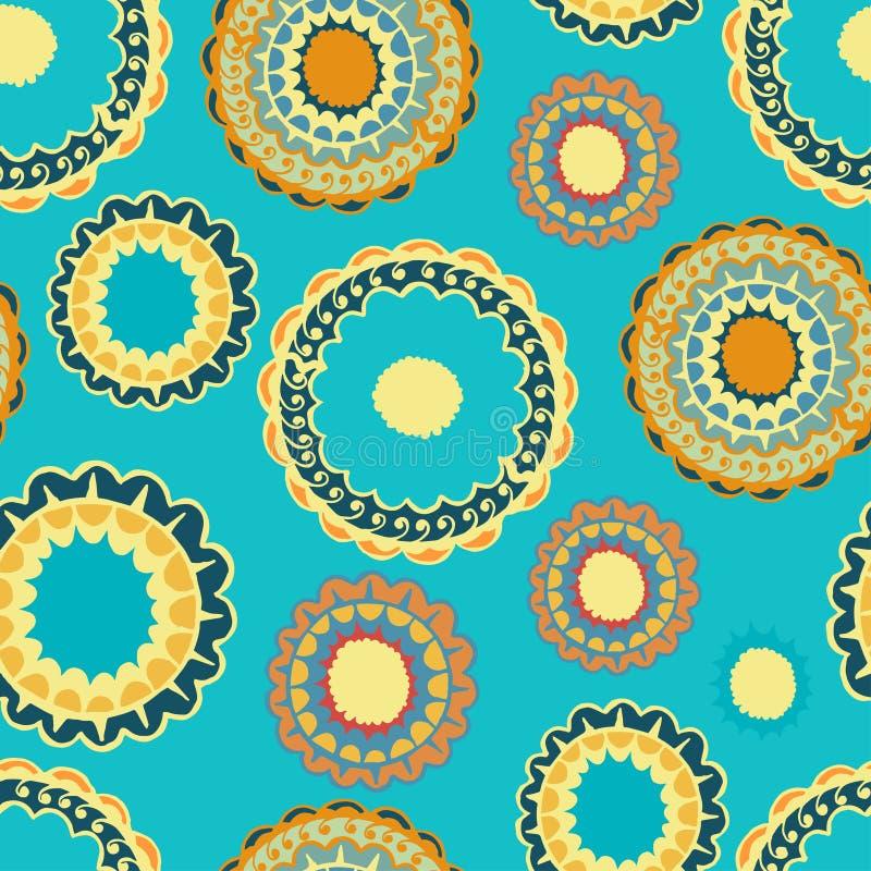 Конспект безшовный с круглой картиной золота бесплатная иллюстрация