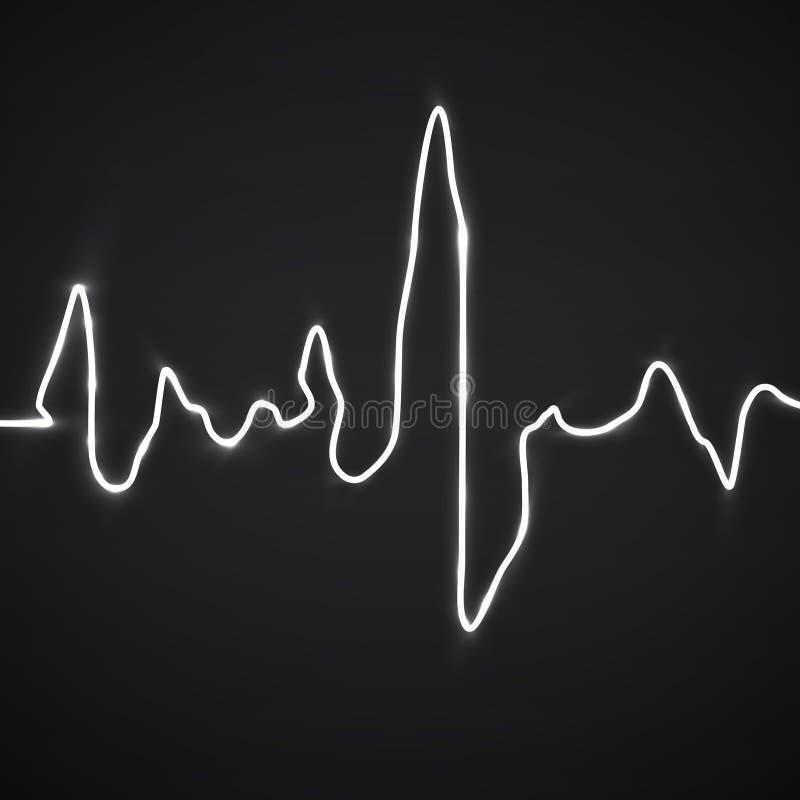 конспект бьет сердце Предпосылка Cardiogram иллюстрация штока