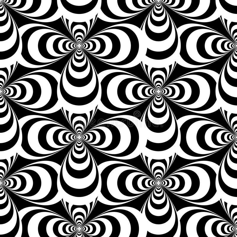 Конспект вектора черно-белый пересекает безшовную картину иллюстрация вектора