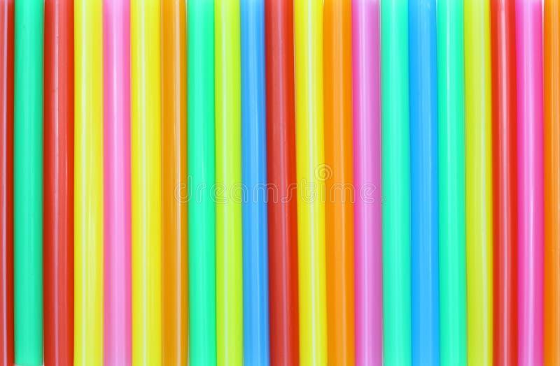Конспект выпивая соломы красочный стоковое изображение