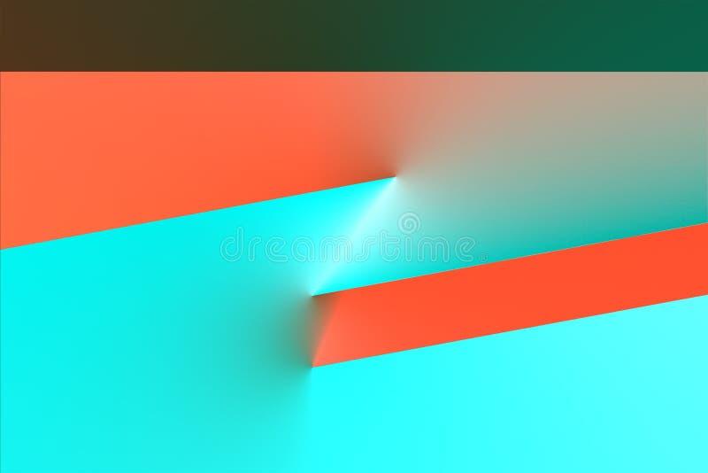 Конспект, высокотехнологичный, примитивная предпосылка 3d иллюстрация штока