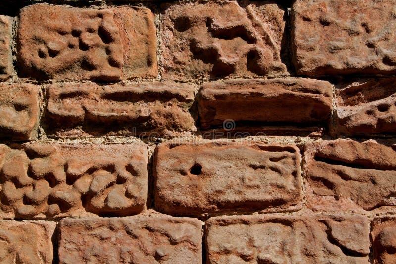 Конспект выдержанной стены песчаника стоковая фотография rf