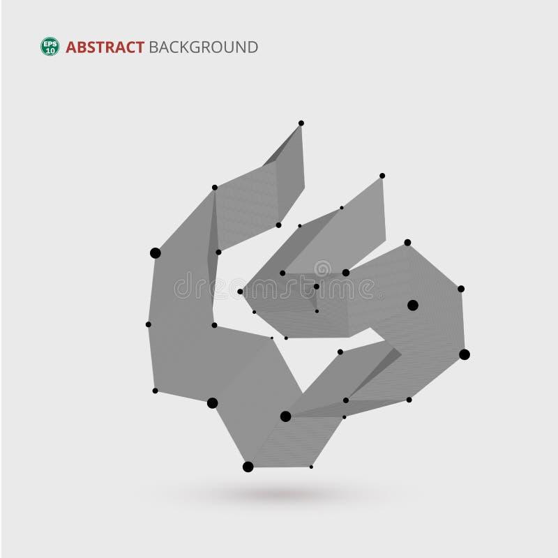 Конспект геометрической свободной предпосылки формы иллюстрация штока