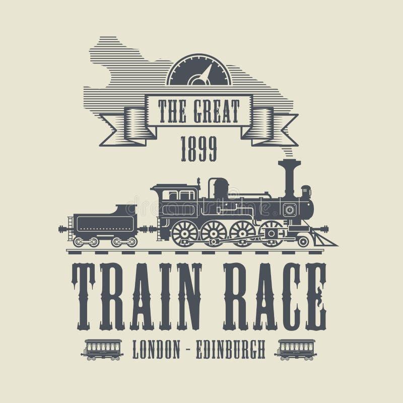 Конспект гонки поезда бесплатная иллюстрация