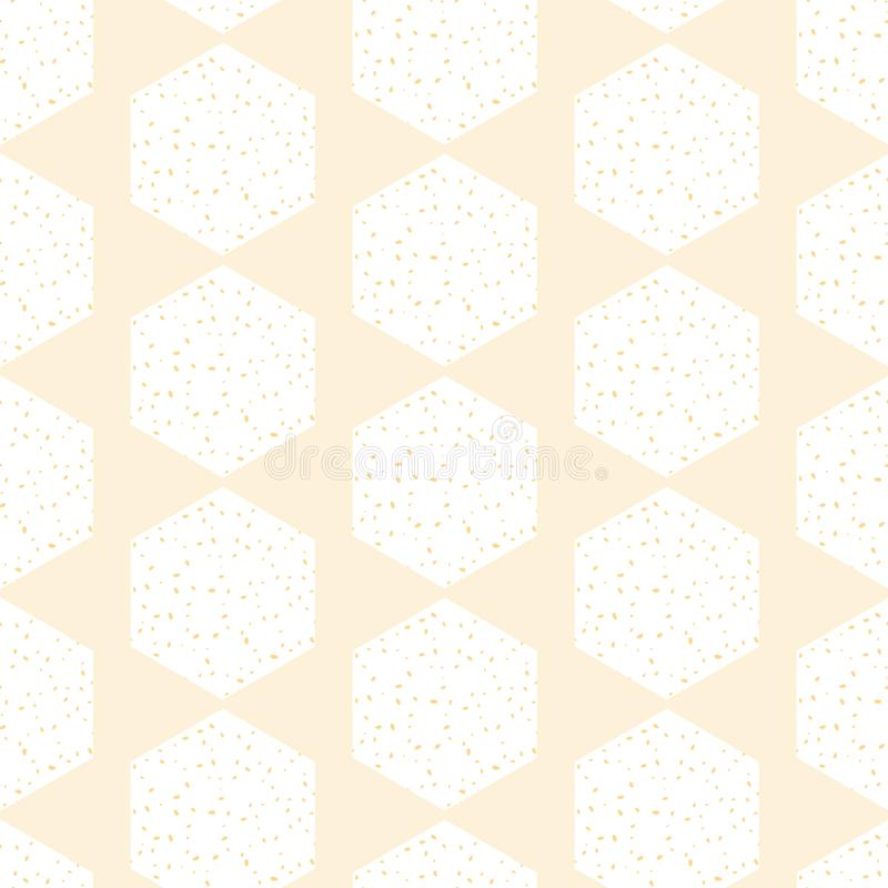 Конспект гребня меда вектора в пастельной желтой безшовной предпосылке картины иллюстрация штока