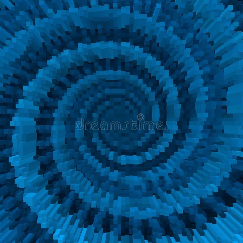 Конспект движения куба свирли 3d, подача извива бесплатная иллюстрация