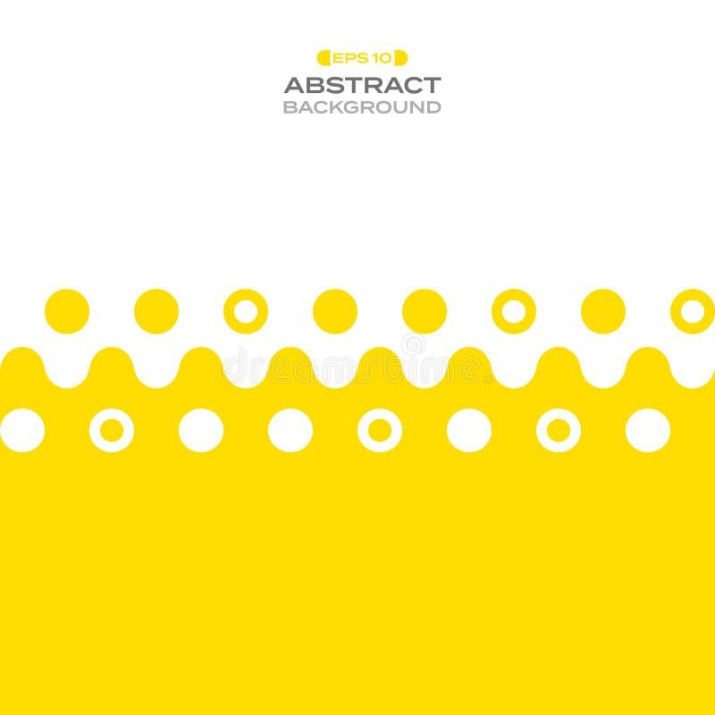 Конспект желтой линии предпосылки нашивки картины иллюстрация штока