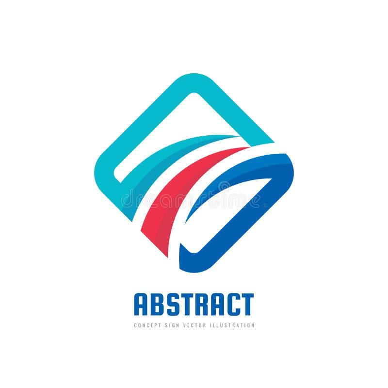 Конспект - иллюстрация концепции шаблона логотипа дела вектора Покрашенные положительные геометрические формы в стиле оптимизма к бесплатная иллюстрация