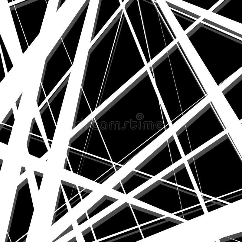 Download Конспект, линии сложной формы картина, предпосылка Monochrome Geomet Иллюстрация вектора - иллюстрации насчитывающей backhoe, monochrome: 81803872