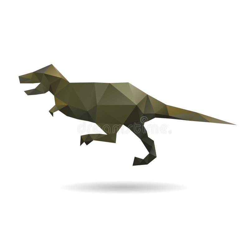 Конспект динозавра изолированный на белые предпосылки иллюстрация вектора