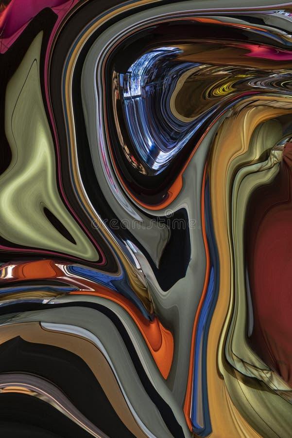 Конспект и жидкая чувствуя текстура Движение с современным художественным произведением стоковая фотография rf