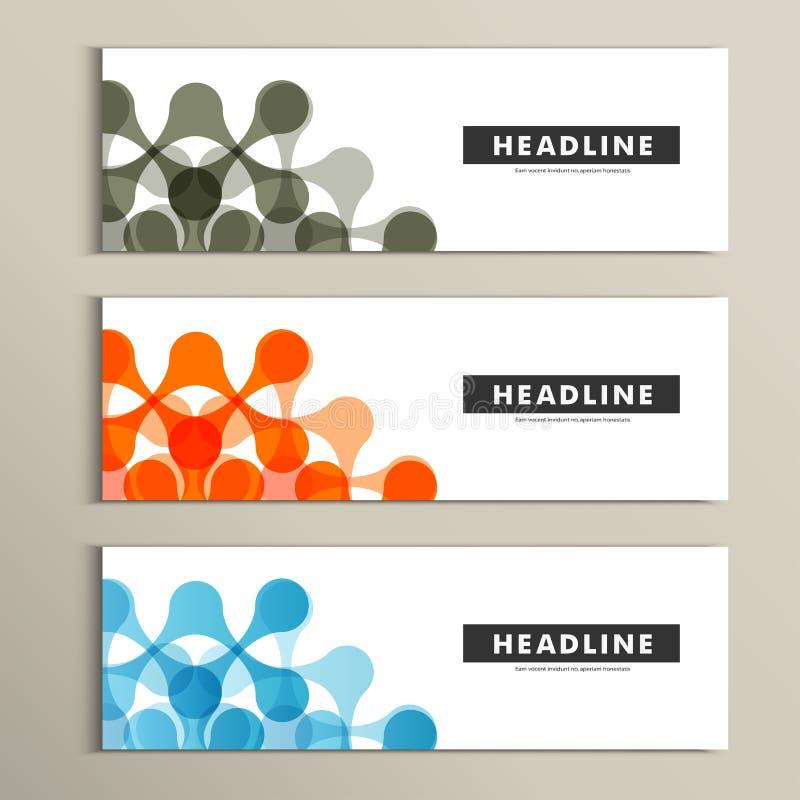Конспект картины 3 векторов в дизайне знамени бесплатная иллюстрация