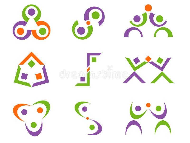 конспект конструирует вектор логоса иллюстрация вектора