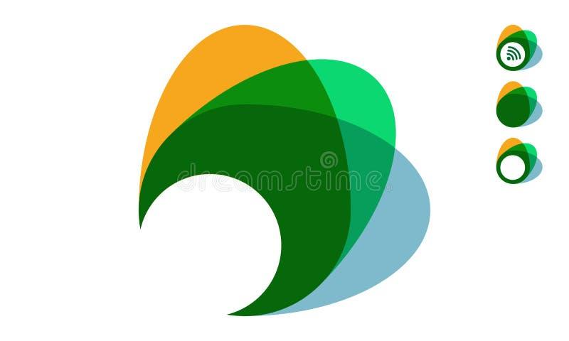 Конспект концепции для дизайна логотипа Форма Astract иллюстрация вектора