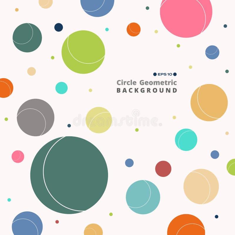 Конспект красочной ретро предпосылки картины круга бесплатная иллюстрация