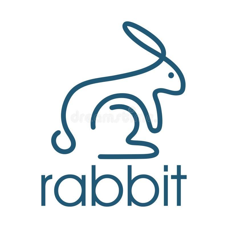 Конспект кролика с равномерными линиями иллюстрация вектора