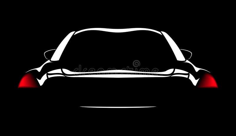 Конспект логотипа автомобиля выравнивает вектор также вектор иллюстрации притяжки corel бесплатная иллюстрация