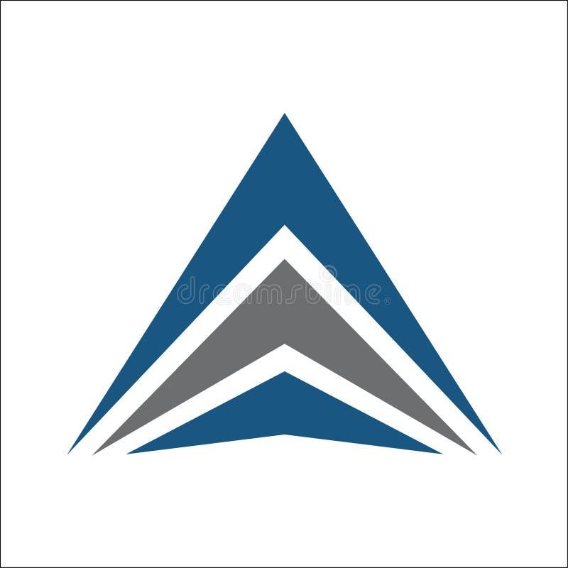 Конспект логотипа треугольника иллюстрация вектора
