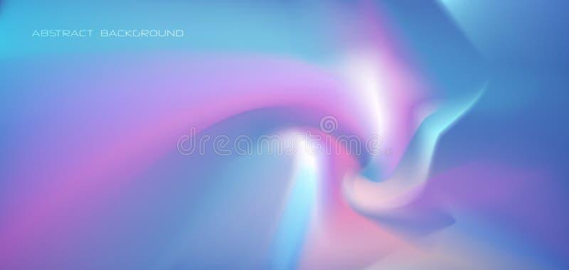 Конспект накаляя, неоновое свето иллюстрации, минимальная яркая жидкость, предпосылка жидкостного градиента Ультрамодное вектора  иллюстрация штока