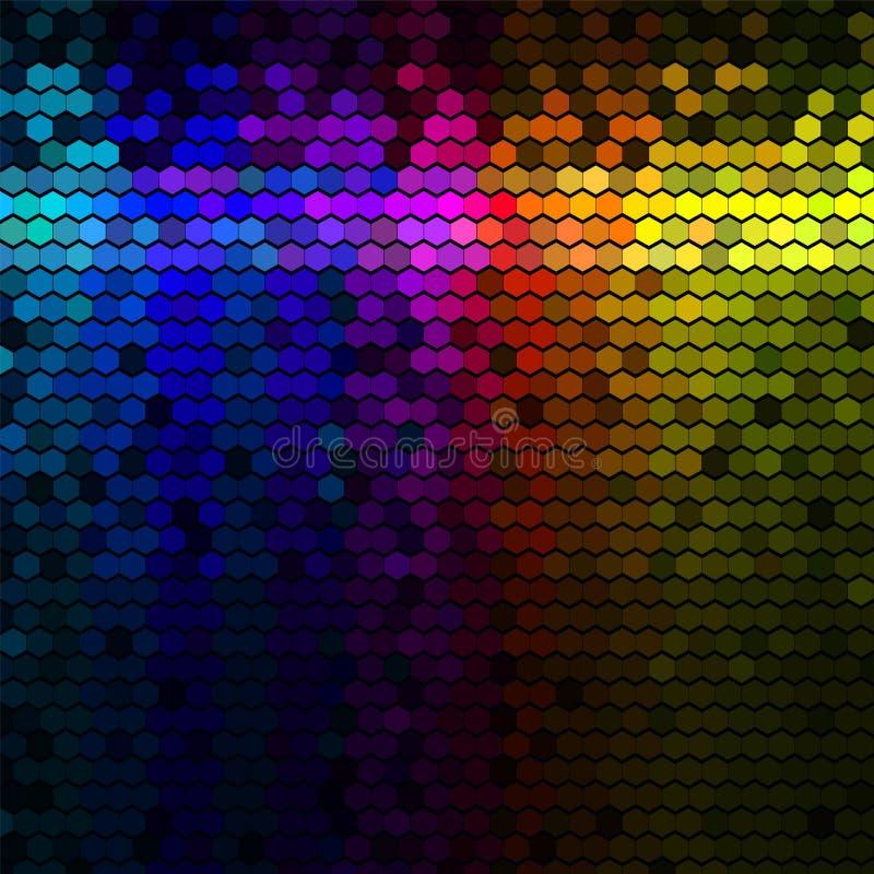 Конспект освещает предпосылку диско иллюстрация вектора