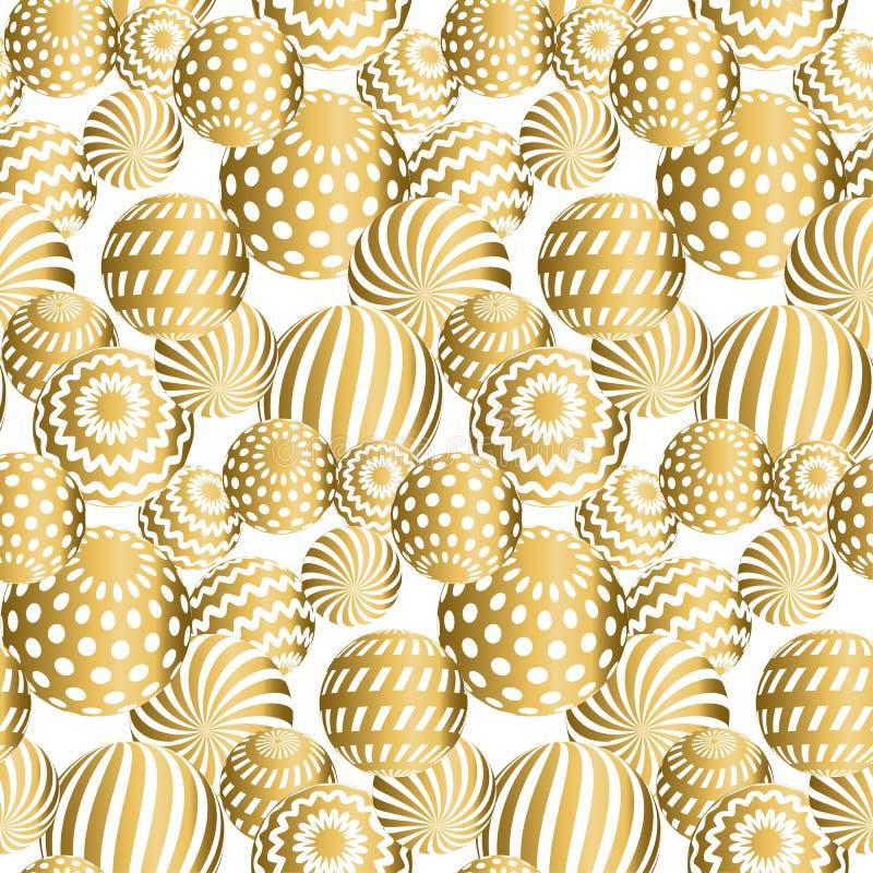 Конспект отбортовывает безшовную картину в цвете xmas золота иллюстрация штока