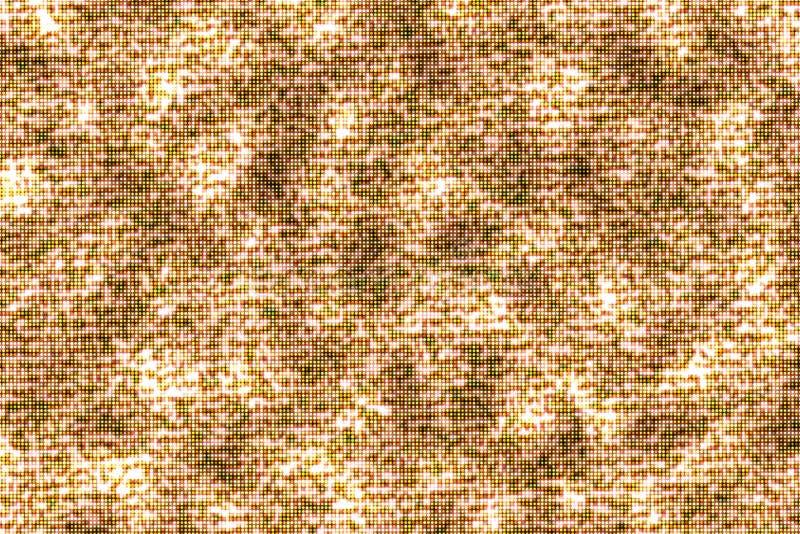 Конспект, предпосылка картины частицы зарева яркого блеска золотая безшовная иллюстрация штока