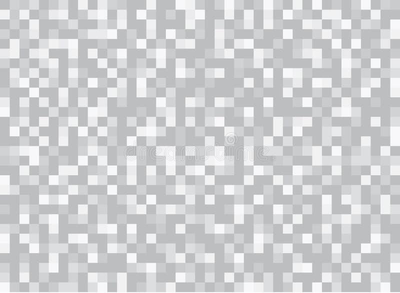 Конспект придает квадратную форму геометрической серой и белой предпосылке Пиксел, Gri иллюстрация вектора
