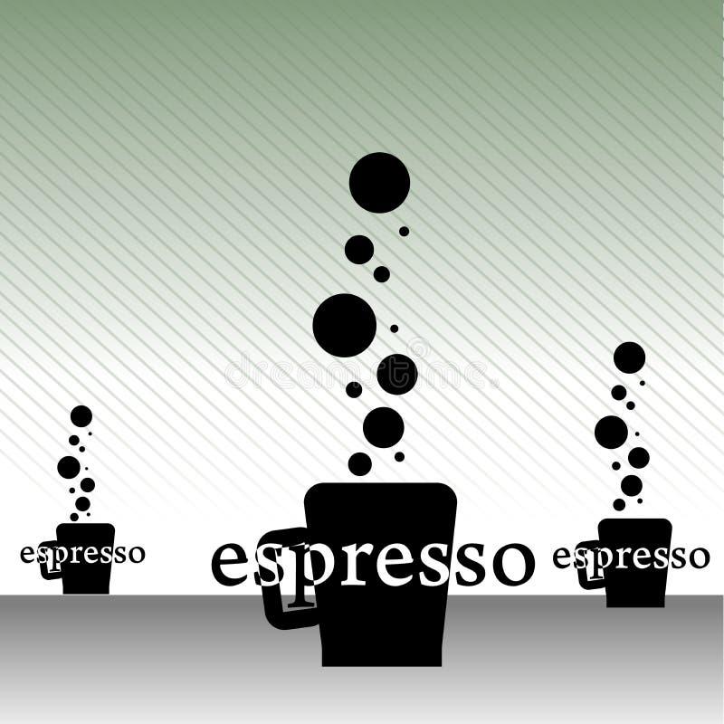 конспект придает форму чашки espresso иллюстрация вектора