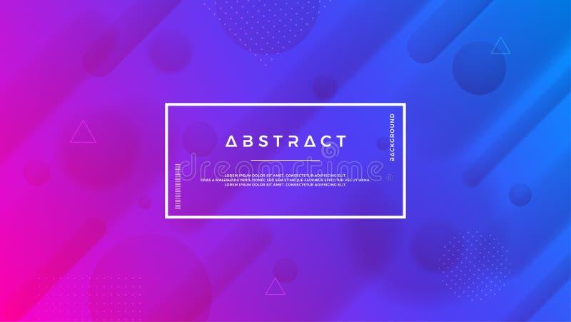 Конспект, современная, динамическая, ультрамодная предпосылка градиента иллюстрация вектора