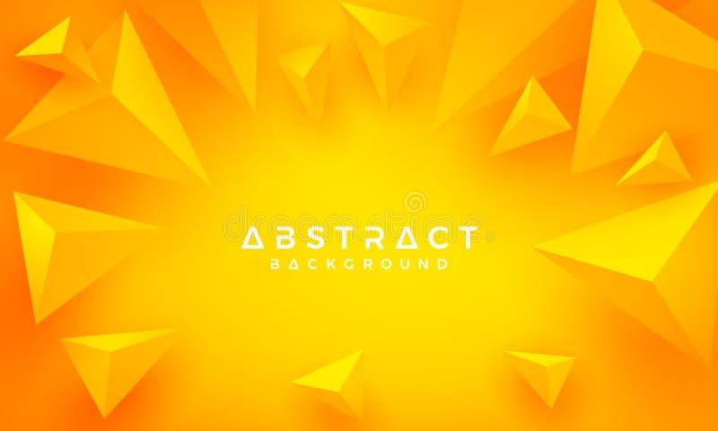 Конспект, современный, апельсин треугольника 3D, желтая предпосылка вектор предпосылки eps10 бесплатная иллюстрация