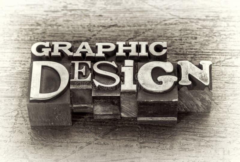 Конспект слова графического дизайна в типе металла стоковое фото rf
