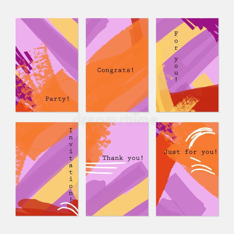 Конспект текстуры Grunge гладит рукой фиолетовый апельсин иллюстрация вектора