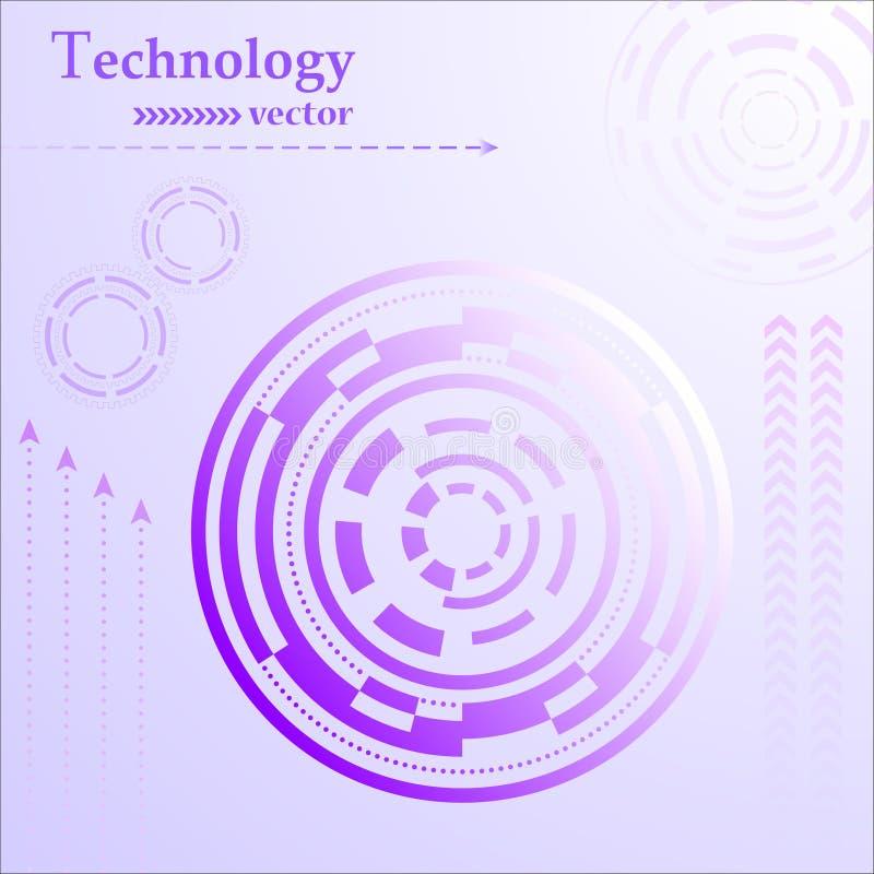 Конспект технологии HUD стоковое изображение rf