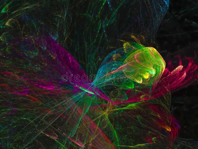 Конспект фрактали, дизайн представления энергии концепции текстуры обоев творческий стоковые фотографии rf