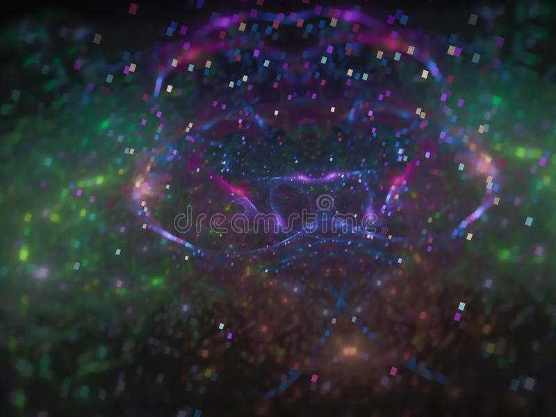 Конспект фрактали, цифровая произведенная предпосылка света концепции картины науки сети волшебная, творческий дизайн, картина ха стоковое фото