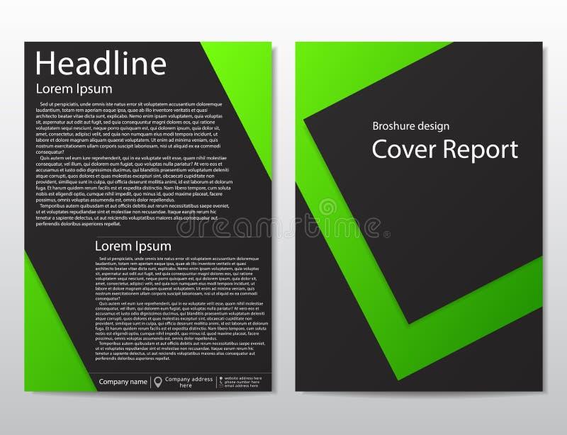 Конспект шаблона дизайна брошюры рогульки вектора геометрический иллюстрация штока