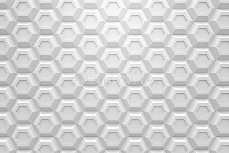 Конспект 3d черноты технологии Honeyomb белого шестиугольника современный подпирает бесплатная иллюстрация
