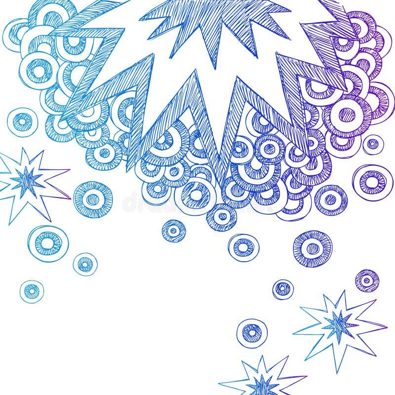 конспект doodles тетрадь схематичная иллюстрация вектора