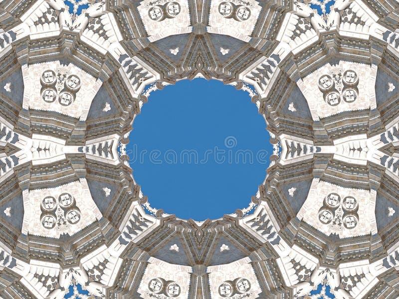 Конспект dos Jeronimos Mosteiro, монастыря в Belem в Лиссабоне бесплатная иллюстрация