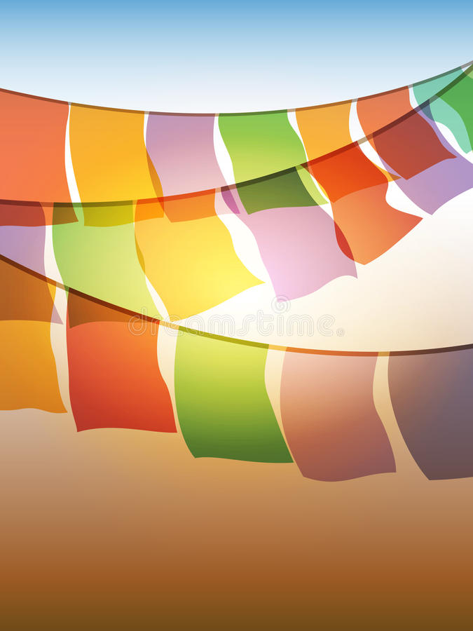 конспект flags молитва иллюстрация вектора