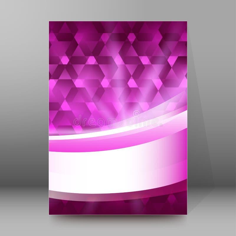 Конспект glow52 стиля обложек A4 брошюры справочного доклада иллюстрация вектора