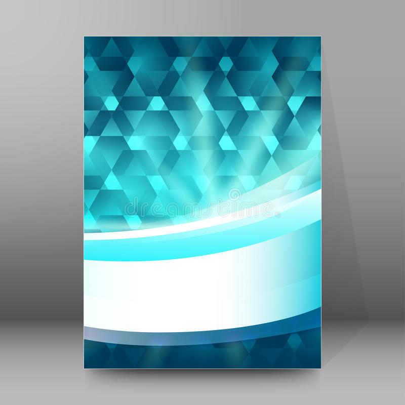 Конспект glow53 стиля обложек A4 брошюры справочного доклада иллюстрация вектора