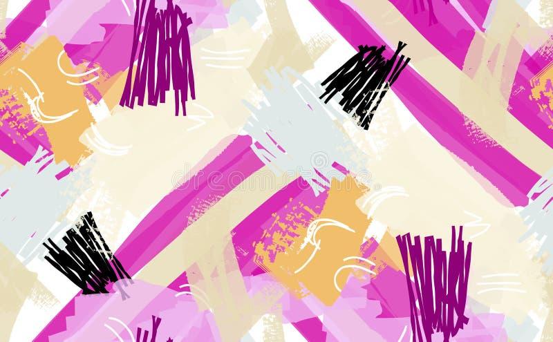 Конспект scribbles фиолетовый желтый пинк бесплатная иллюстрация