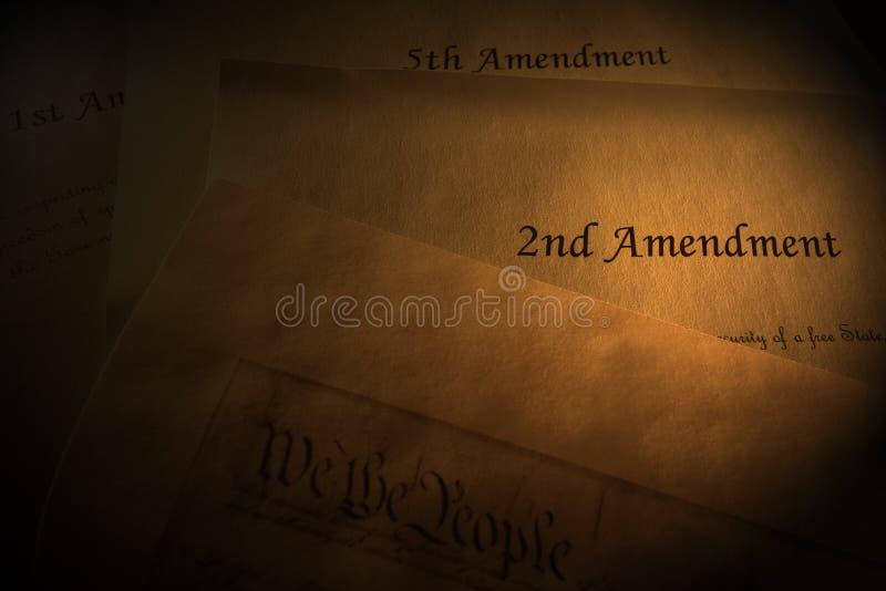 Конституционные поправки США стоковое изображение