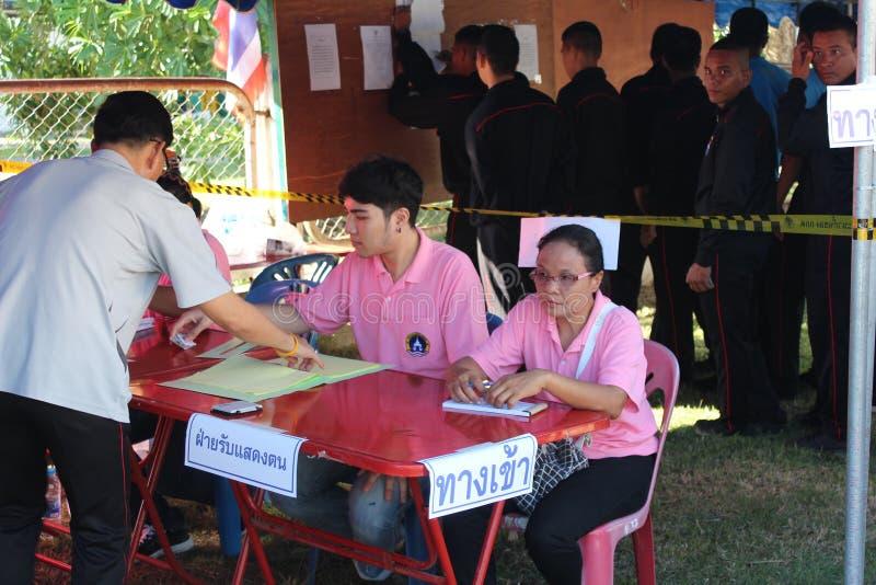 Конституционный референдум Khon Kaen, Таиланд стоковое фото